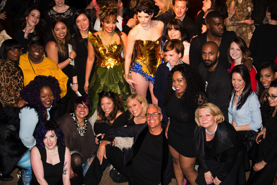 Scott J Salon at AVEDA Trashion Show NYC 2015