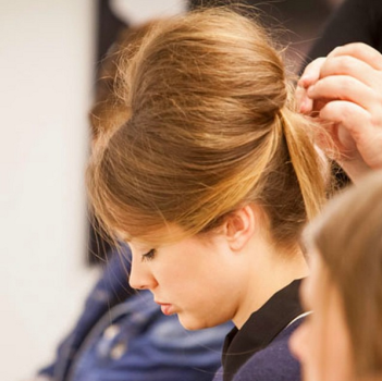 how to add volume to hair - backcombing