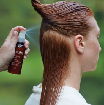 adding volume to hair - thickening blowout with aveda thickening tonic